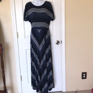 Tommy Hilfiger navy stripe maxi dress